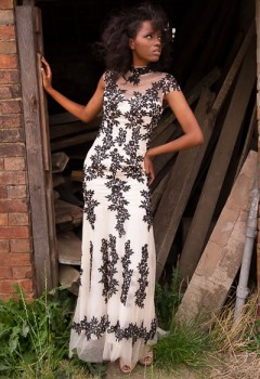 The Brocade Lace Ball Gown