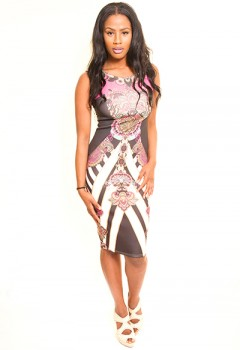 Illusion Print dress